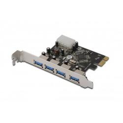 Schede I/O Scheda PCI-E 4 Porte Usb3.0  DS30221 Cod:SHA14