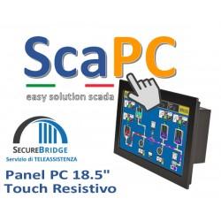 ScadaPC PPPC 18.5 Fanless 4GB SSD120 Win10 IoT Runtime Cod:SP185R.000